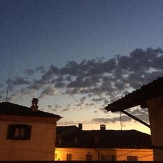 my #sky #tonight #lamorra #langhe #piedmont #piemonte #italy #cielo #nostalgia #clouds #evening #rooftop #romantic