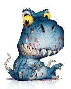 Cartoon Fish, Cartoon Monsters, Cute Monsters, Little Monsters, Cute Animal Drawings, Cartoon Drawings, Cute Drawings, Cute Fantasy Creatures, Cute Creatures