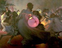 Louis Adolphe Tessier, French artist (1858-1915). 'Tourbillon'