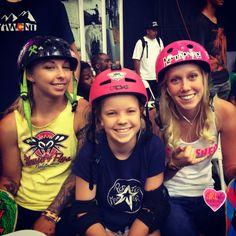 Girls Demo At Vans Pool Party - rock star skaters - Julz Lynn, Poppy Starr Olsen, Beverly Flood