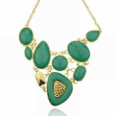 Fashion Statement Collar Necklace Wholesale For Women 2014 Resin Acrylic Oval Round Square Teardrop Chain Necklace Pendants-in Chain Necklaces from Jewelry on Aliexpress.com | Alibaba Group