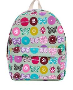 Mooncolour Colorful Butterfly Print Canvas Backpack School Rucksack 2dd13d56df9c9