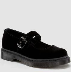 Dr. Martens black velvet Mary Janes - $61