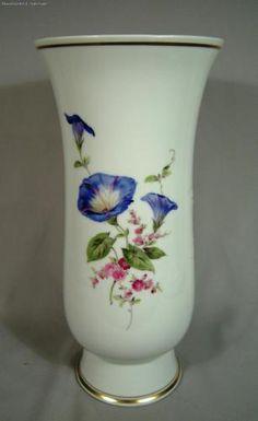 Grande-Antigo-De-Porcelana-De-Meissen-pintado-a-mao-vaso-De-Flor-Aro-Dourado
