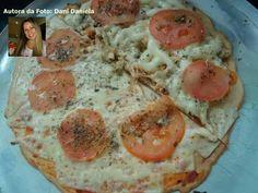 Pizza com fibra de sj e gelatina sem sabor - parece boa