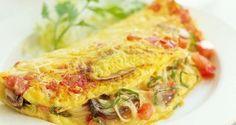 Un desayuno rico y saludable: Omelet de hongos y tomate