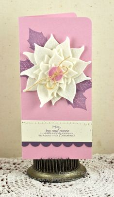 Poinsettia card by Dawn McVey for Papertrey Ink (October 2011).