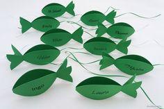 """Weiteres - Tischkarte """"Fisch"""" - beidseitig mit Namen bedruckt - ein Designerstück von deco-and-more4u bei DaWanda"""