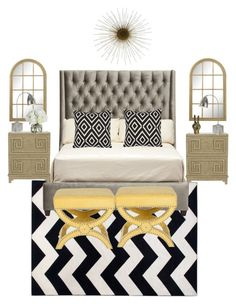 Classic Chić by savvysettings on Polyvore featuring interior, interiors, interior design, home, home decor, interior decorating, Worlds Away, Safavieh, Uttermost and Diane James