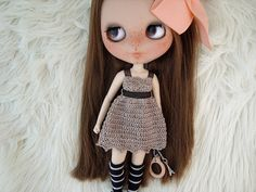 Vestido para Blythe crochet