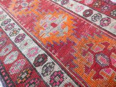 Large Caucasian Pattern Rug Runner Vintage by HANDSONHIPS on Etsy