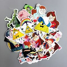 TD ZW 25Pcs/lot Funny Anime Gravity Falls Sticker For Car Laptop Luggage Skateboard Motorcycle Decal Kids Toy Sticker  Price: 1.71 USD