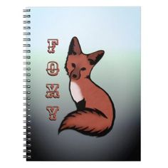 Beautiful Red Foxy Fox Notebook - red gifts color style cyo diy personalize unique