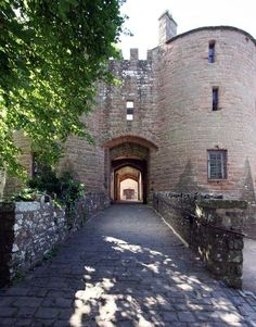 St Briavels Castle in Gloucestershire, England, former hunting lodge of King John built in 1131