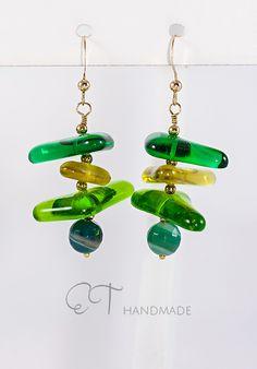 Orecchini di vetro e agata di ET handmade su DaWanda.com