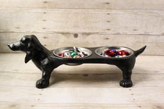 DACHSHUND Vintage cast iron dog dish by phoebestreasurechest, $42.95