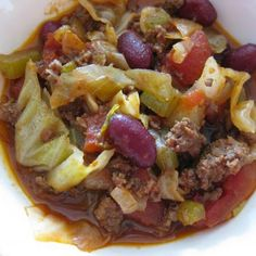 Amish Cabbage Patch Stew Recipeu - I added carrots, used 1/2 the amount of hamburger called for.