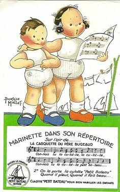 Vintage advert by Beatrice Mallet for Petit Bateau...reépinglé par Maurie Daboux ◡ً❤