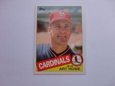 Art Howe 1985 Topps Baseball Card.