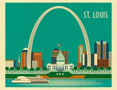 Hey, I found this really awesome Etsy listing at https://www.etsy.com/listing/99687641/st-louis-missouri-skyline-horizontal