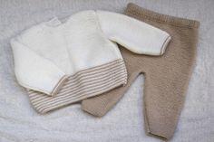 DIY Conjunto bebé: Cómo hacer jersey de lana PARTE 1 (patrones gratis)
