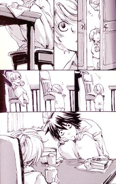 [Near meets L. The poor Near. He must think L is a Psycho. #DeathNote] That's actually kind of cute haha