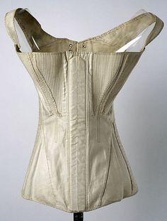 Corset | Metropolitan Museum of Art Costume Institute, Cotton, 1840s, C.I.37.45.93