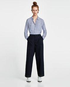 Zdjęcie 1 KOSZULA W PASKI z Zara Satin Top, Zara Women, Spring Summer 2018, Blouses For Women, Long Sleeve Tops, Normcore, Shirts, Clothes, Woman