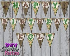 Hey, I found this really awesome Etsy listing at https://www.etsy.com/listing/207430962/printable-hunting-party-banner-hunting