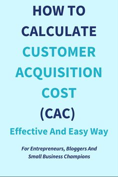 Today it is very easy to set up an AD in no time. Before you burn your dollars on ads learn how to calculate customer acquisition cost (CAC). Inbound Marketing, Marketing Automation, Marketing Digital, Entrepreneur, Financial Tips, Financial Dashboard, Startup, Writing Words, Budgeting Finances