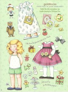 Goldilocks Mary Engelbreit Magazine Paper Dolls Christmas Eve | eBay
