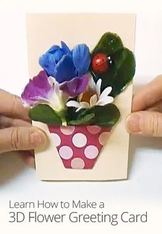 In this kid-friendly arts and crafts lesson from Heather Boyd, learn how to create a beautiful and customizable flower pot greeting card using simple origami techniques.