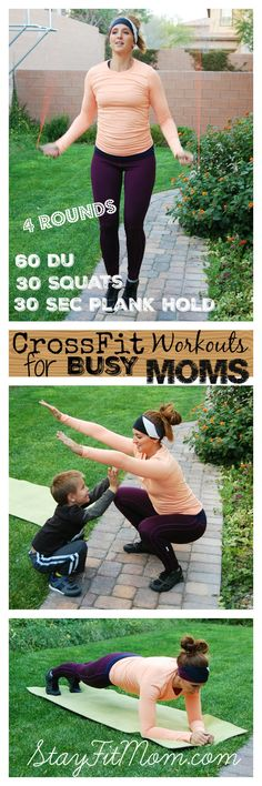 Double Unders, Air Squats, and Plank Workout - Stay Fit Mom - Busy mom quick workouts to do at home anytime. Fitness Workouts, At Home Workouts, Quick Workouts, Morning Workouts, Cardio Workouts, Workout Routines, Hiit, Nutrition Crossfit, Crossfit At Home
