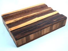 Tiger Strand Bamboo Soap Dish with Tung Oil  by FlatlandersSoapCo, $6.00