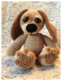 Crocheted puppy snuggle buddy found on etsy @memawscountrycrafts