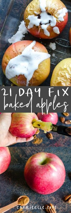 21 Day Fix Baked Apples (so good for dessert or even a side dish...no yellow containers!)