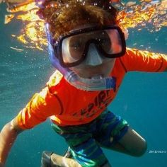 Kids snorkeling for first time - water is crystal clear | Yelp