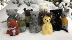 Jäännöslangoista on helppo loihtia pikkuveijareita! Magic Loop, Diy For Kids, Knitting Patterns, Arts And Crafts, Teddy Bear, Mandala, Toys, Blog, Animals
