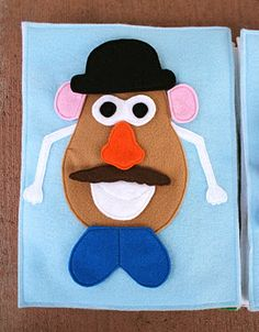 Sunshine, Lollipops, and Rainbows: Mr. Potato Head - Quiet book page (with templates for the accessories)