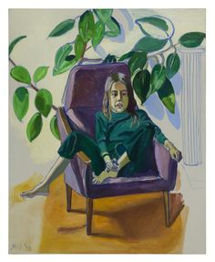 Alice Neel, grande portraitiste | Mu-inthecity.com Alice Neel, Olivia with the Rubber Plant, 1977, © The Estate of Alice Neel and Xavier Hufkens, Brussels