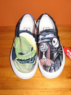 42c1325ef Halloween comes early with these rad Nightmare Before Christmas Slip-Ons  Painted Vans