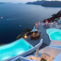 Santorini, Greece - Those moments when you STAY @ the hotel instead...