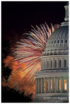 Fireworks Over The Capitol - Washington DC This is what we'll be doing next 4th of July for Mike's 40th. So excited!!