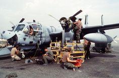 Picture of the Grumman OV-1 Mohawk in maintenance