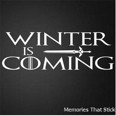 Winter is coming funny car window #bumper game of thrones vinyl #decal #sticker,  View more on the LINK: http://www.zeppy.io/product/gb/2/401072806038/
