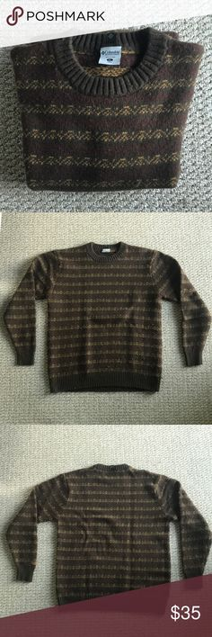 Comumbia Vintage wool sweater Great condition no tears or stains Columbia Sweaters Crewneck