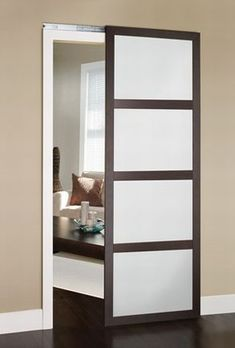 Construction of an Colonial Elegance Wardrobe Door with no apparent rail Construction d'une porte de placard Colonial Elegance sans rail apparent - Door Glass Barn Doors, Glass Door, Wardrobe Doors, Closet Doors, Door Design, House Design, Internal Sliding Doors, Traditional Doors, Bathroom Doors