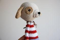Crochet Dog Toy Amigurumi Dog Crochetted Toy por daydreamsbymeri