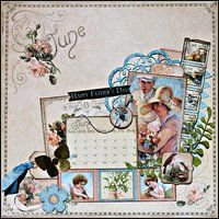 Project Ideas for Graphic 45 - Place in Time Collection - 12 x 12 Double Sided Paper - June Cut-Aparts, gf-4500602
