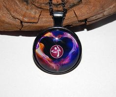 Zumba inspired logo pendant Zumba necklace Zumba keychain